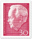 Briefmarke: Heinrich Lübke (Bundespräsident, 30)