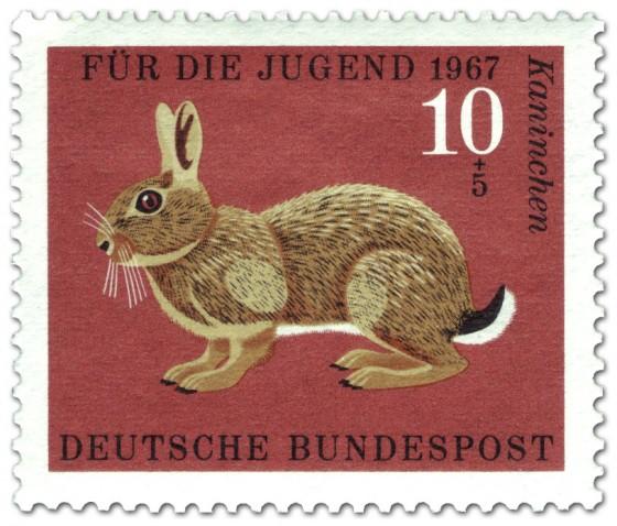 Briefmarke: Kaninchen (Wildkaninchen)