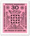 Briefmarke: Kreuz - Frieden unter uns (ev. Kirchentag 1967)