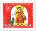 Briefmarke: Tochter mit Gold überschüttet (mit Hahn)