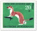 Briefmarke: Wiesel (Hermelin)