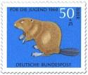 Briefmarke: Biber