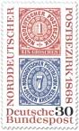 Briefmarke: Briefmarken: 100 Jahre Norddeutscher Postbezirk