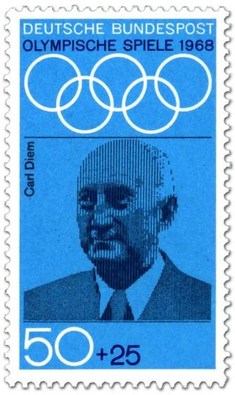 Briefmarke: Carl Diem (Sport-Organisator)