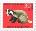 Briefmarke: Dachs