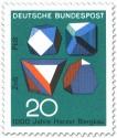 Briefmarke: Erzmineralien in Kristallform (Harzer Bergbau)