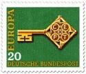 Briefmarke: Europamarke 1968 (Schlüssel)