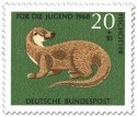 Briefmarke: Fischotter
