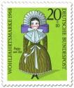 Briefmarke: Puppe um 1850