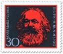 Briefmarke: Karl Marx (150. Geburtstag)