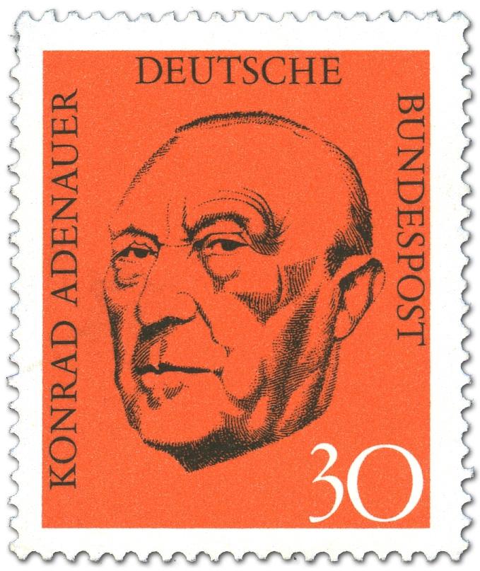 Konrad Adenauer Portrait Briefmarke 1968