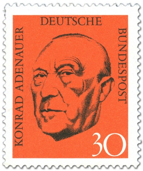 Briefmarke: Konrad Adenauer Portrait