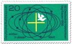 Briefmarke: Mitten in dieser Welt (Taube, Kreuz) - Katholikentag Essen