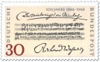 Briefmarke: Notenblatt: Meistersinger von Nürnberg (Richard Wagner)