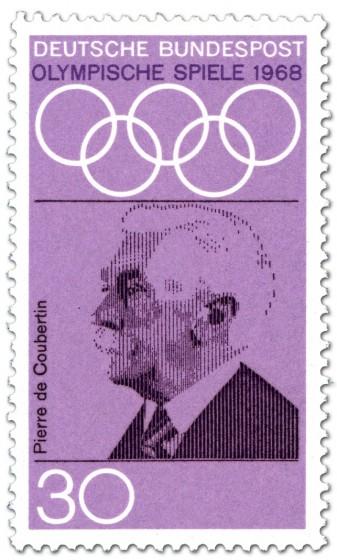 Briefmarke: Pierre de Coubertin (Begründer Olympische Spiele Neuzeit)