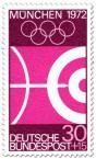 Briefmarke Bogenschießen (Olympia 1972)