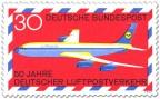 Briefmarke: Boing 707 Lufthansa
