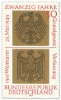 Bundesadler und Reichsadler auf Gold