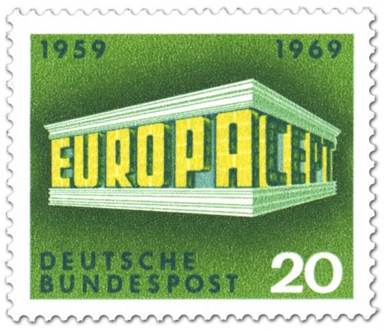 Briefmarke: Europamarke 1969 (Tempel)