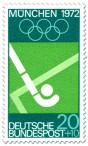 Feldhockey Briefmarke (Olympia München 72)