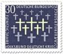 Briefmarke: Grabkreuze (Volksbund Kriegsgräberfürsorge)