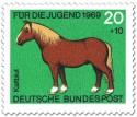 Briefmarke: Kaltblut Pferd