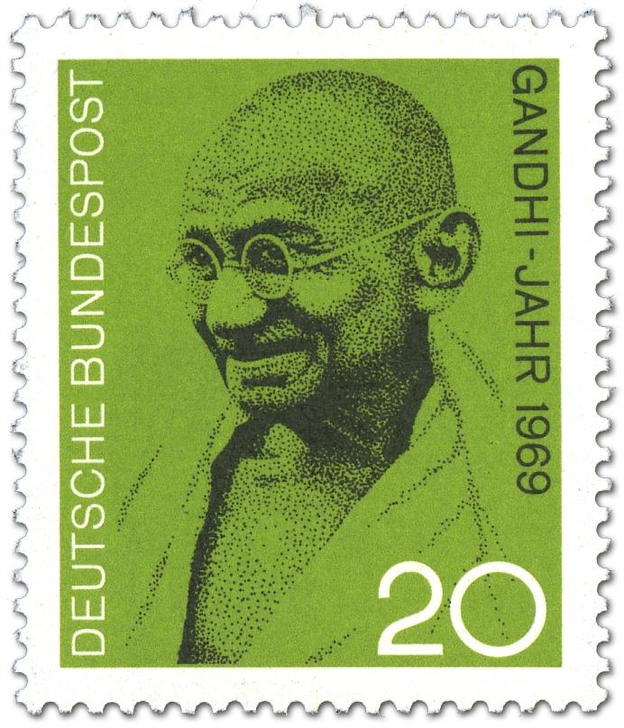 Mahatma Gandhi Bild Briefmarke 1969