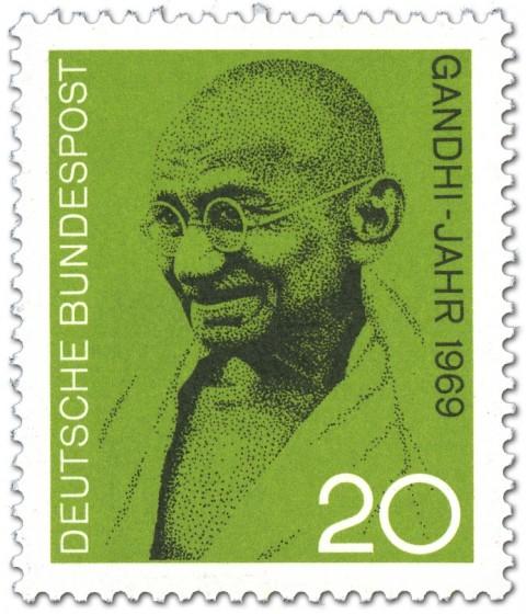 Briefmarke: Mahatma Gandhi Bild