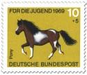 Briefmarke: Pony Gescheckt