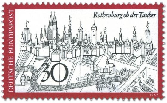 Briefmarke: Rothenburg Ob Der Tauber Stadtansicht