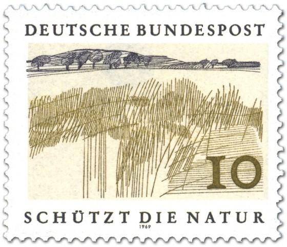 Briefmarke: Schilf am See