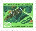 Briefmarke: 350 Jahre Soleleitung (Bad Reichenhall - Traunstein)