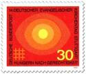 Briefmarke: Sonne,  Hunger nach Gerechtigkeit (ev. Kirchentag Stuttgart)
