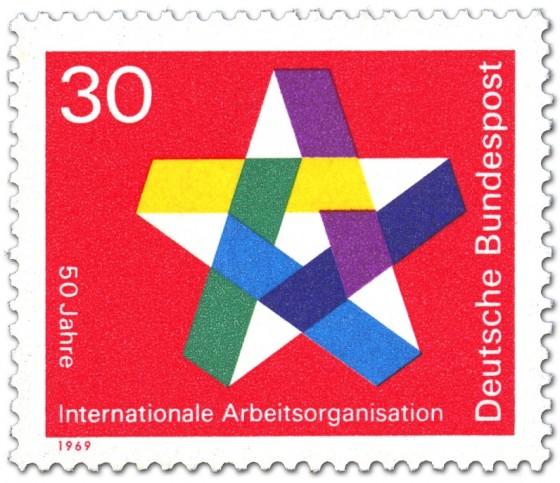 Briefmarke: Stern (Internationale Arbeiterorganisation IAO)