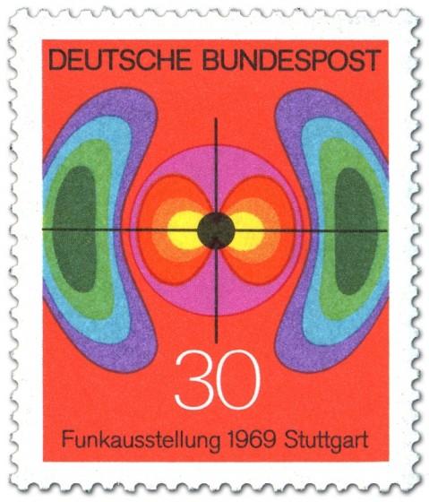 Briefmarke: Funkausstellung 1969 in Stuttgart