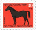 Briefmarke: Warmblut Pferd