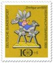 Briefmarke: Zinnfigur: Christuskind in Krippe (Weihnachtsmarke 1969)