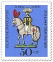 Briefmarke: Zinnfigur um 1840 - Reiter auf Pferd