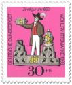Briefmarke: Zinnfigur um 1850 - Vogelhändler
