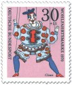 Briefmarke: Clown Marionette