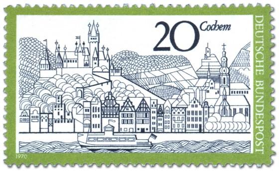 Briefmarke: Cochem an der Mosel (Stadtansicht)