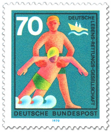 Briefmarke: DLRG: Deutsche Lebensrettungsgesellschaft