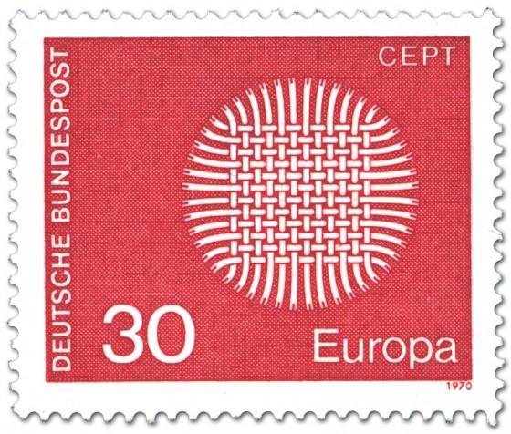 Briefmarke: Europamarke 1970 (Flechtwerk als Sonne, 30)