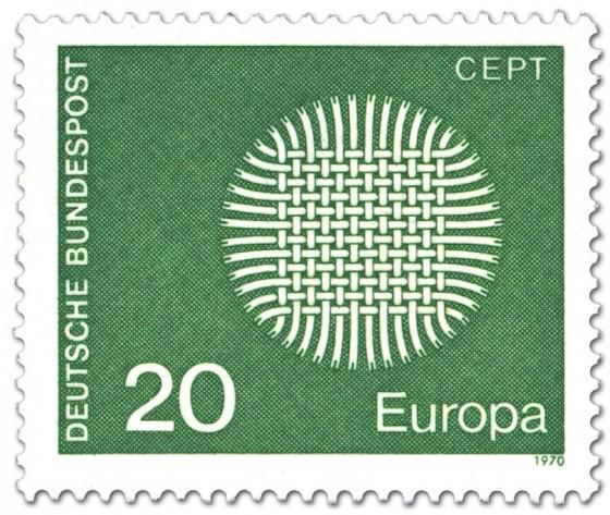 Briefmarke: Europamarke 1970 (Flechtwerk als Sonne)