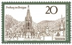 Briefmarke: Freiburg im Breisgau (Stadtansicht mit Münster)