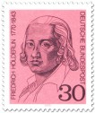 Briefmarke: Friedrich Hölderlin (Dichter)