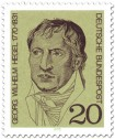 Briefmarke: Georg Wilhelm Friedrich Hegel (Philosoph)