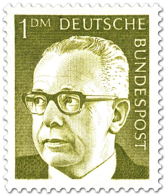 Gustav Heinemann 1 Dm Briefmarke 1970