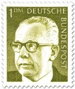 Briefmarke: Gustav Heinemann (1 DM)