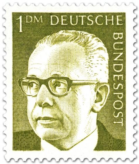 Briefmarke: Gustav Heinemann (1 DM)